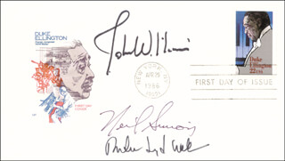 ANDREW LLOYD WEBBER - FIRST DAY COVER SIGNED CO-SIGNED BY: NEIL DOC SIMON, JOHN WILLIAMS