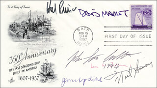 NEIL DOC SIMON - FIRST DAY COVER SIGNED CO-SIGNED BY: HAROLD HAL PRINCE, WILLIAM F. BUCKLEY JR., DAVID MAMET, JOHN UPDIKE