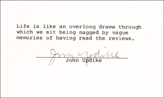 JOHN UPDIKE - TYPED QUOTATION SIGNED