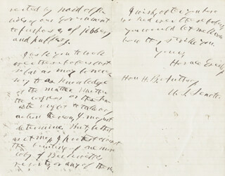 HORACE GREELEY - AUTOGRAPH LETTER SIGNED 06/17/1868