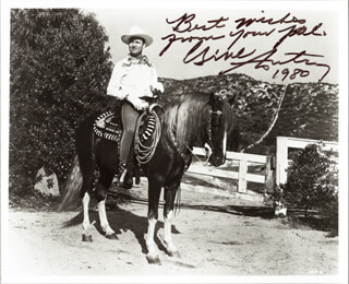 GENE AUTRY - AUTOGRAPHED SIGNED PHOTOGRAPH 1980