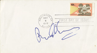 ROBERT EVANS - FIRST DAY COVER SIGNED