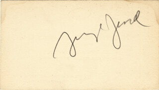 GEORGE JESSEL - BUSINESS CARD SIGNED