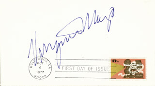 VIRGINIA MAYO - FIRST DAY COVER SIGNED