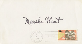 MARSHA HUNT - FIRST DAY COVER SIGNED