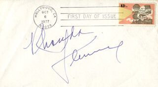 RHONDA FLEMING - FIRST DAY COVER SIGNED