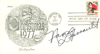 NANCY DUSSAULT - FIRST DAY COVER SIGNED