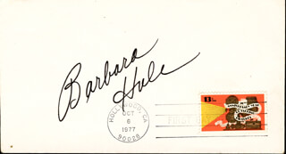 BARBARA HALE - FIRST DAY COVER SIGNED