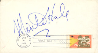 MONTE HALE - FIRST DAY COVER SIGNED