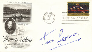 JACK LEMMON - FIRST DAY COVER SIGNED