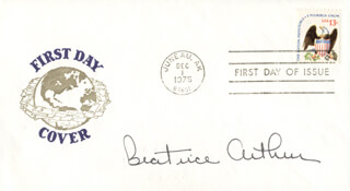 BEATRICE BEA ARTHUR - FIRST DAY COVER SIGNED
