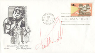 KENT McCORD - FIRST DAY COVER SIGNED