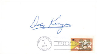 DORIS KENYON - FIRST DAY COVER SIGNED
