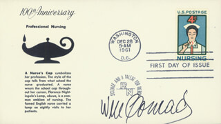 WILLIAM CONRAD - FIRST DAY COVER SIGNED