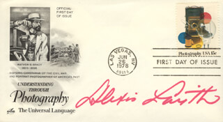 ALEXIS SMITH - FIRST DAY COVER SIGNED