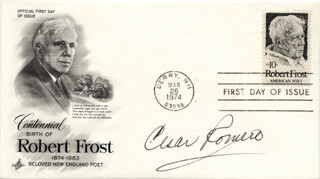 CESAR ROMERO - FIRST DAY COVER SIGNED