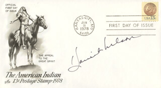 HARRIET HILLIARD NELSON - FIRST DAY COVER SIGNED
