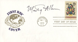MARTY ALLEN - FIRST DAY COVER SIGNED
