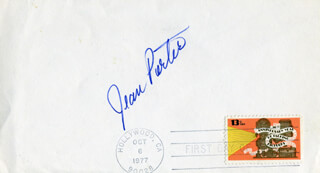 JEAN PORTER - FIRST DAY COVER SIGNED