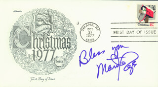 MARTHA RAYE - FIRST DAY COVER WITH AUTOGRAPH SENTIMENT SIGNED