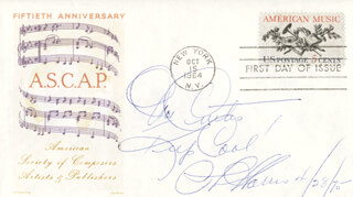PHIL HARRIS - INSCRIBED FIRST DAY COVER SIGNED 04/28/1975