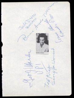 BONNIE ANGELO - AUTOGRAPH CO-SIGNED BY: CONNIE CHANCELLOR, THEODORE TED KNAP, GEORGE J. HARDER, JACK DIXON
