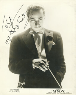 SHEP FIELDS - AUTOGRAPHED INSCRIBED PHOTOGRAPH 1937