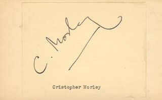 CHRISTOPHER MORLEY - AUTOGRAPH