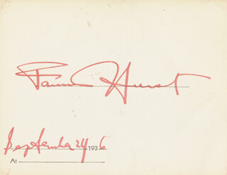 FANNIE HURST - PRINTED CARD SIGNED IN INK 09/24/1936