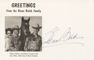 GLENN BALCH - PICTURE POST CARD SIGNED