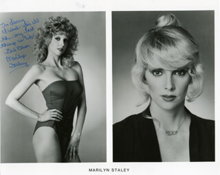 MARILYN STALEY - INSCRIBED PRINTED PHOTOGRAPH SIGNED IN INK