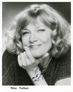 NITA TALBOT - AUTOGRAPHED INSCRIBED PHOTOGRAPH