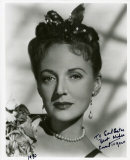 CARMEL MYERS - AUTOGRAPHED INSCRIBED PHOTOGRAPH 1980
