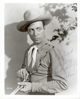 EDDIE DEAN - AUTOGRAPHED INSCRIBED PHOTOGRAPH