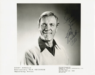 EDDY ARNOLD - AUTOGRAPHED INSCRIBED PHOTOGRAPH 1980