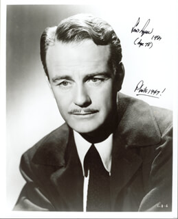 LEW AYRES - AUTOGRAPHED SIGNED PHOTOGRAPH 1987
