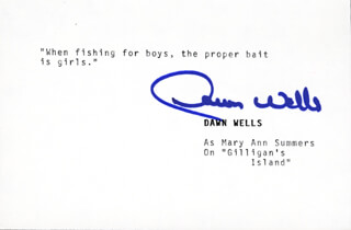 DAWN WELLS - TYPED QUOTATION SIGNED