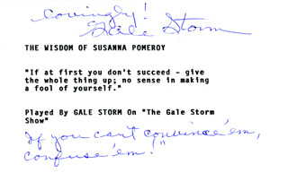GALE STORM - TYPED QUOTATION SIGNED
