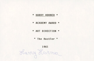 HARRY HORNER - PRINTED CARD SIGNED IN INK
