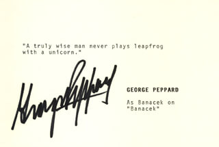 Autographs: GEORGE PEPPARD - TYPED QUOTATION SIGNED