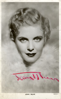 JEAN MUIR - PICTURE POST CARD SIGNED