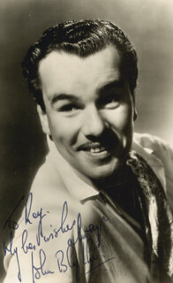 JOHN BLYTHE - AUTOGRAPHED SIGNED PHOTOGRAPH