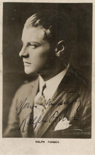 RALPH FORBES - PRINTED PHOTOGRAPH SIGNED IN INK