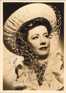 IRENE DUNNE - AUTOGRAPHED INSCRIBED PHOTOGRAPH