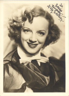 INEZ COURTNEY - AUTOGRAPHED INSCRIBED PHOTOGRAPH