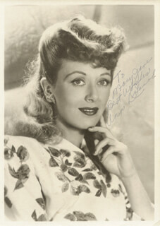 ANN DVORAK - AUTOGRAPHED INSCRIBED PHOTOGRAPH
