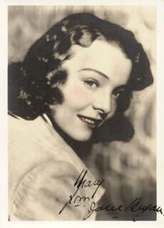 JANE BRYAN - AUTOGRAPHED INSCRIBED PHOTOGRAPH