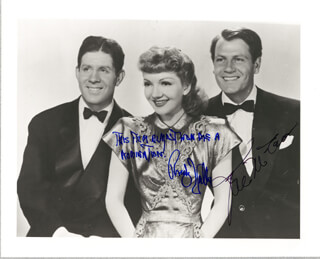 PALM BEACH STORY MOVIE CAST - AUTOGRAPHED SIGNED PHOTOGRAPH CO-SIGNED BY: JOEL McCREA, RUDY VALLEE