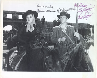 THE LAST COMMAND MOVIE CAST - AUTOGRAPHED INSCRIBED PHOTOGRAPH CO-SIGNED BY: BEN COOPER, ANNA MARIA ALBERGHETTI