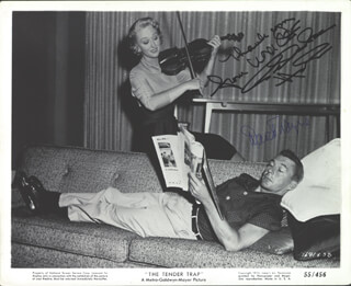 TENDER TRAP MOVIE CAST - AUTOGRAPHED SIGNED PHOTOGRAPH CO-SIGNED BY: DAVID WAYNE, CELESTE HOLM